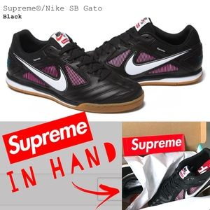 Supreme Nike SB Gato Sneakers Shoes Black Size 9